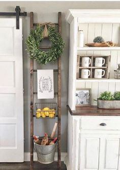 We have some Charming and Inexpensive Farmhouse Kitchen Updates for you today. A quick and easy way to give your Farmhouse Kitchen a new and fresh look! kitchen decor Charming and Inexpensive Farmhouse Kitchen Updates - The Cottage Market Farmhouse Chic Kitchen, Easy Home Decor, Affordable Farmhouse Kitchen, Home Decor Kitchen, Kitchen Style, Decor, Updated Kitchen, Farmhouse Kitchen Decor, Home Decor