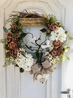 Fall Wreaths, Door Wreaths, Diy Wreath, Grapevine Wreath, Pumpkin Wreath, Christmas Animals, Holidays And Events, Decoration, Floral Arrangements