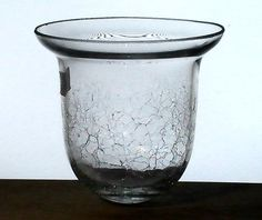 Hanging Candle Holder Crackle Glass 6 5 X 5 625 Xl Acorn