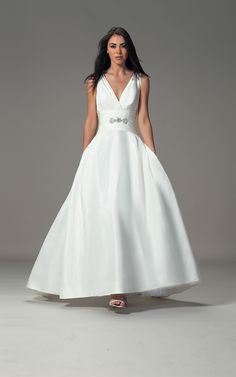 This would be a nice gown for an older bride.