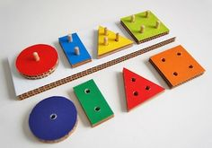 yep, things to do with yet more boxes from Sam's--- Play And Grow cardboard shape toy diy