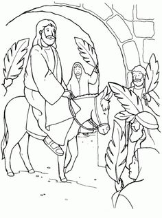 Free Palm Sunday Coloring Sheets   Bible Lessons, Games and ...