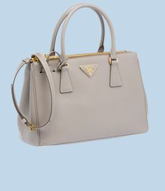 Prada Leather Tote in Clay Grey (1050€)