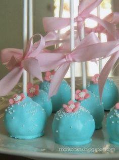 Mari's Cakes (English): Cake Pops, Ballerina Cupcakes, and Cute Cake for Topaz Birthday! 16th Birthday, Birthday Parties, Birthday Ideas, Ballerina Cupcakes, Cake Pop Displays, Chocolate Cake Pops, Shabby Chic Birthday, Pink Milk, Cooking Cake