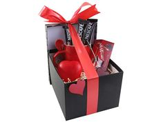 Heart Hamper - Includes: 1 x Heart Keyring, 1 x Heart Stressball, 1 x Heart Memo Clip, 1 x Whirl Mug & Spoon, 3 x Lindor Balls and 3 x Cappuccino Sachets Great Valentines Day Ideas, Valentines Day Decorations, Love Articles, Heart Keyring, Branded Gifts, Christmas Items, Mugs Set, Corporate Gifts, Inspirational Gifts