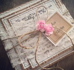 Valentine Crafts, Valentines, Lace Wedding Invitations, Shabby Chic Pink, Wishing Well, Birthday Cards, Birthday Ideas, Altered Art, Twine