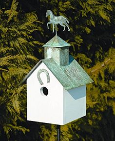Birdhouses  Heartwood Sleepy Hollow Horse Heaven Bird House - White Outdoor Décor * This is an Amazon Associate's Pin. Locate the item on the website simply by clicking the VISIT button