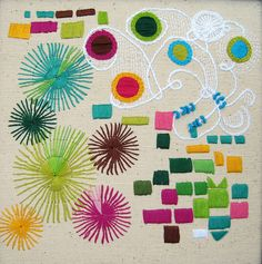 Embroidery of abstract doodles. #abstractembroidery #doodlestitching #doodleembroidery