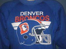 vintage 80s DENVER BRONCOS CREWNECK SWEATER trench football sweatshirt t soft $29.99