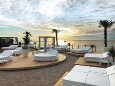 It is located on the Gothland island in Sweden, it´s season beggins just before Ibiza´s Pool Bar, Outdoor Furniture Design, Beach Villa, Beach Design, Beach Bars, Island Resort, Farm Gardens, Hello Summer, Beach Pool