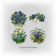 "Set"" Floral Collection"" - Vol. 3 (4 motifs)"