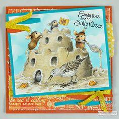 "#HouseMouse ""Castle Construction"" Rubber Stamp http://www.ebay.com/itm/262400811379?ssPageName=STRK:MESELX:IT&_trksid=p3984.m1555.l2649 #cardmaking #papercraft #copic #crafting"