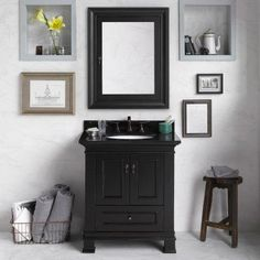 Ronbow 067330 Venice 30 in. Single Bathroom Vanity Set Absolute Black - RON639-10, Durable