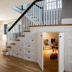 Staircase Storage, Staircase Design, Basement Storage, Grand Staircase, Closet Storage, Staircase Decoration, Modern Staircase, Office Storage, Storage Under Stairs