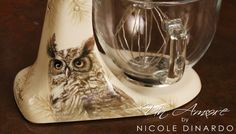 Custom Painted KitchenAid mixer, Owl in sepia by Nicole Dinardo of Un Amore INC. Stand Mixer Recipes, Stand Mixers, Artisan Mixer, Kitchenaid Stand Mixer, Kitchen Aid Mixer, Kitchen Aide, Pick And Mix, Wine Decanter, Custom Paint