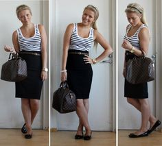 Love the tank top/skirt combo