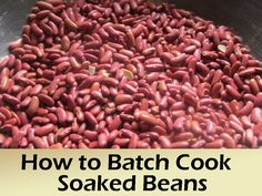 How to Batch Cook Soaked Beans - freeze & have ready for healthier & cheaper) alternative to canned beans