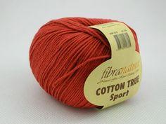 Włóczka Cotton Tru Sport kolor rdzawa czerwień nr 107-01 Pasmanteria U Gaby