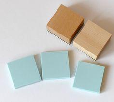Stempel selber machen Stempelgummi quadratisch von frau zwerg auf DaWanda.com