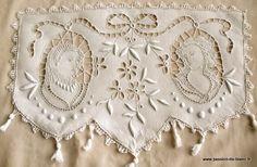 beautiful antique cutwork antimacassre