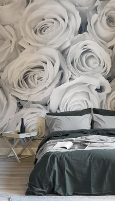 Make a statement with these larger than life florals. This floral wallpaper design will bring an air of sophistication and style to your bedroom spaces. Showcasing a beautiful palette of greys, you can decide to jazz it up with pops of colour or keep it simple.
