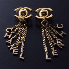 HELLO! Vintage Chanel earrings. Next Christmas, Santa????