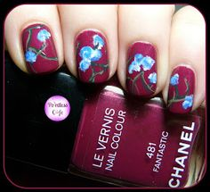 Pointless Cafe: Extend-A-Mani: Blue Flowers
