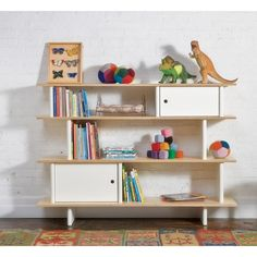 Oeuf - Mini Library - Birch-Consideration for functionality and high-end modern design has been applied to The Oeuf Mini Library, a reaction to the lack of storage available in children's furniture. Designed for easy access, the Mini Library nurtures Library Shelves, Kids Bookcase, Bookshelves, Modern Bookcase, Bookcase White, Nursery Bookshelf, Bookshelf Ideas, Modern Nursery Furniture, Toddler Furniture