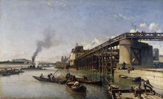 Great art from Art Authority: View of Paris, the Seine or l'Estacade by Jongkind, Johan