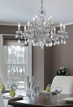 Crystorama 4479-CH-CL-MWP Maria Theresa 12 Light 29 inch Polished Chrome Chandelier Ceiling Light in Polished Chrome (CH), Clear Hand Cut, 29-in Width SKU-4479-CH-CL-MWP.jpg
