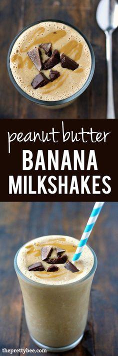 Peanut Butter Banana Milkshakes