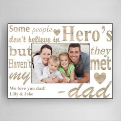 Personalized Father's Day Frame  My Dad My Hero by CreativeByClair