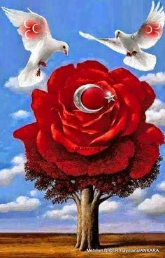 Bayrak sevgisi Clock Wallpaper, Flower Phone Wallpaper, Galaxy Wallpaper, Islamic Images, Islamic Art, Bachelor Party Cakes, Beautiful Night Images, Corazones Gif, Love Wallpapers Romantic
