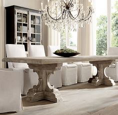 Side Table for Dining Rooms Elegant Belgian Slope Arm Slipcovered Side Chair Dining Room Table Decor, Pedestal Dining Table, Dining Room Sets, Decoration Table, Dining Room Design, Dining Chairs, Room Decor, Kitchen Dining, Design Table