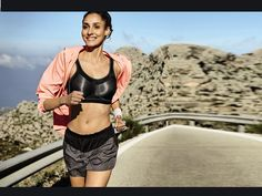 Summer demands breezy and light clothes. Invest on feather-weight, light-coloured, and loose sports t-shirts, or tank tops. #running