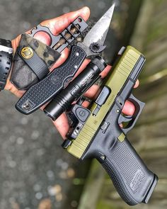 did an amazing job on my Glock The RMR fits like a glove in the cut and I am definitely digging the Noveske Bazooka Green cerakote. Tactical Rifles, Tactical Knives, Firearms, Edc Essentials, Survival Gadgets, Everyday Carry Gear, Custom Guns, Go Bags, Edc Gear