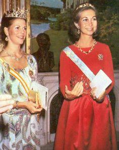 Reinas Silvia de Suecia y Sofía de España 1979