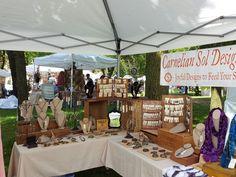 Outdoor Art Fair- Carnelian Sol Designs at Paoli Art at the Mill Park 2016 Craft Show Booths, Craft Fair Displays, Display Ideas, Vendor Booth, Craft Stalls, Outdoor Art, Art Fair, Jewellery Display, Carnelian