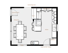 Great Kitchen Floor Plan Kitchen Layout Ideas Pinterest