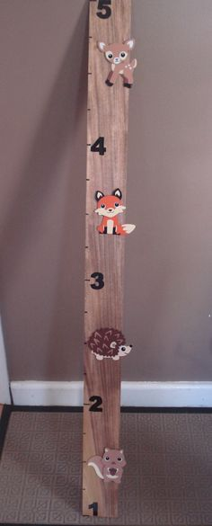 Growth Chart- Woodland Creatures by PhillipsRoad on Etsy https://www.etsy.com/listing/215411322/growth-chart-woodland-creatures