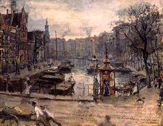 Isaac Israëls - Koningsplein Amsterdam, herfst