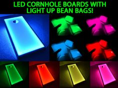 LED Bean Bags with Light Up Cornhole Boards, Great Glow Game's video poster