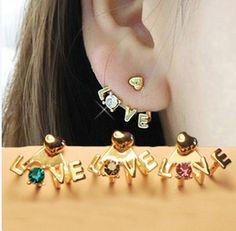 Chic LOVE diamond earring stud FSEH303 (colors send