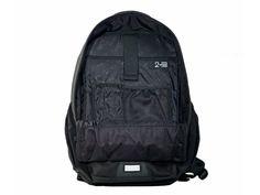 Pannier Backpack Convertible - Inside Open - Black Waxed Canvas - Two Wheel Gear - Inside
