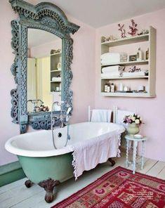 """Idea-> """"Poner un espejo a la altura de la bañera para poder verte mientras te duchas!"""" Me encantaaa! <3 Es emocionante."""