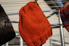 Pumpkin Orange Chunky Hand Knit Beanie for by LilRedKnittingHood, $20.00