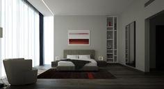 紅色,顯示在這間臥室的持久性有機污染物給出一個激情的小提示,否則便會簡單的設計。