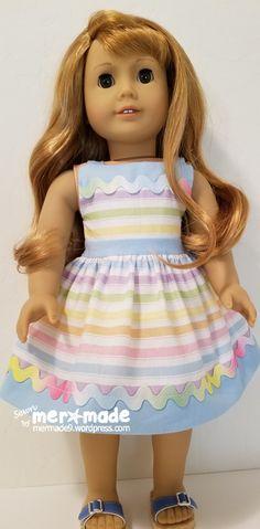 Bonus sundress pattern from Erin Hentzel's Doll Days Book (Avery Lane Pattern's) Ag Doll Clothes, Sewing Clothes, Ag Dolls, Girl Dolls, Sundress Pattern, Sewing Patterns Girls, American Girls, 18 Inch Doll, Boutique Dresses
