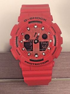 G Shock Ga 100c 5081 Red With Face Water Resist 20 Bar Resistant Watch