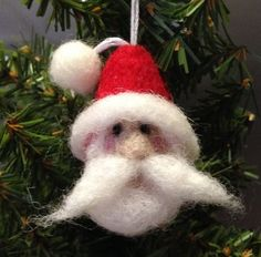 Items similar to Needle Felted Santa Claus Ornament – Christmas Wool Felt Doll on Etsy Christmas Craft Projects, Handmade Christmas Decorations, Felt Decorations, Felt Christmas Ornaments, Xmas Crafts, Felt Crafts, Needle Felted Ornaments, Felted Wool Crafts, Wool Needle Felting